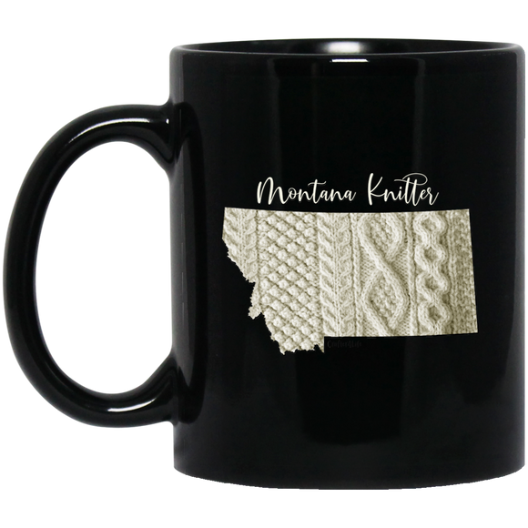 Montana Knitter Black Mugs