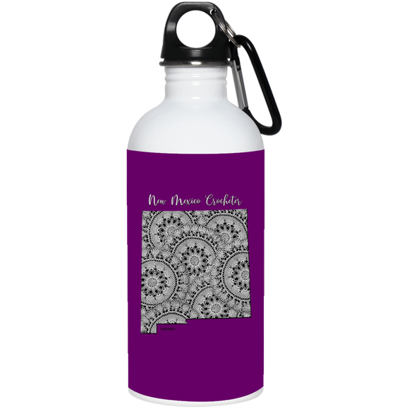 New Mexico Crocheter 20 oz. Stainless Steel Water Bottle