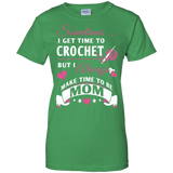 Crochet Mom Ladies Custom 100% Cotton T-Shirt - Crafter4Life - 1