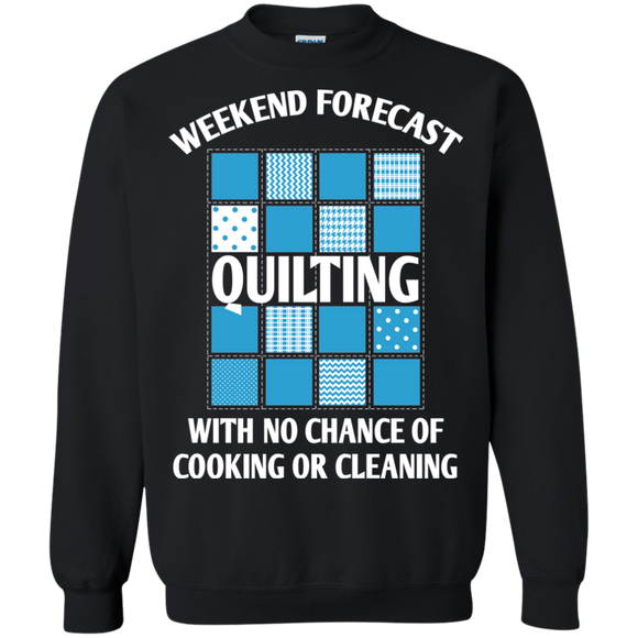 Weekend Forecast: Quilting Crewneck Pullover Sweatshirt