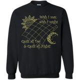 Wish I May Quilt Crewneck Sweatshirts - Crafter4Life - 2
