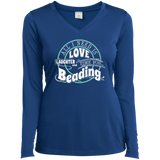 Time for Beading Ladies Long Sleeve V-neck Tee - Crafter4Life - 8