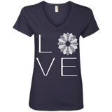 LOVE Quilting Ladies V-Neck Tee - Crafter4Life - 5