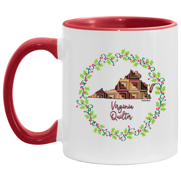 Virginia Quilter Christmas Accent Mug