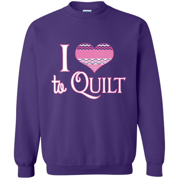 I Heart to Quilt Crewneck Sweatshirts - Crafter4Life - 1