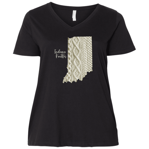 Indiana Knitter Ladies Curvy Full-Figure T-Shirts