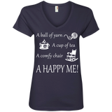 A Happy Me Ladies V-neck Tee - Crafter4Life - 5