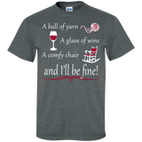 A Ball of Yarn a Glass of Wine Men's and Unisex T-Shirts - Crafter4Life - 4