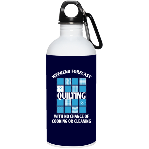 Weekend Forecast: Quilting 20 oz. Stainless Steel Water Bottle