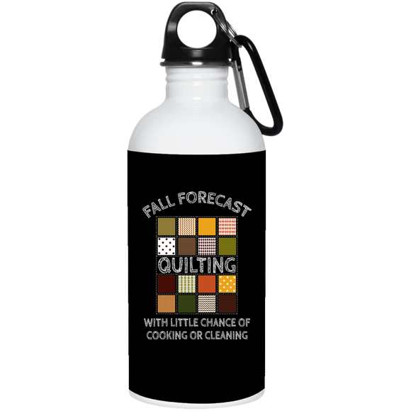 Fall Forecast - Quilting 20 oz. Stainless Steel Water Bottle