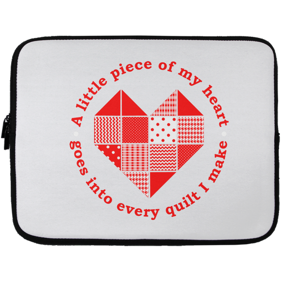 Piece of My Heart (Quilt) Laptop Sleeves