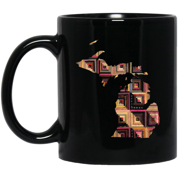 Michigan Quilter Black Mugs