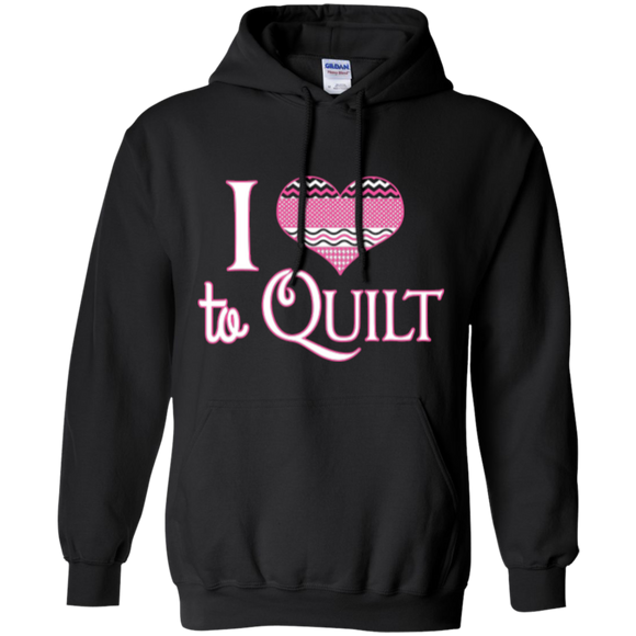 I Heart to Quilt Pullover Hoodies - Crafter4Life - 1