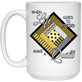 Make a Quilt (Yellow) White Mugs