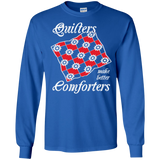 Quilters Make Better Comforters Long Sleeve Ultra Cotton T-Shirt - Crafter4Life - 1