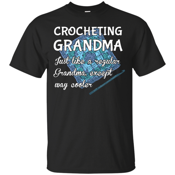 Crocheting Grandma Custom Ultra Cotton T-Shirt
