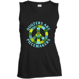 Quilters are Piecemakers Ladies Sleeveless V-Neck - Crafter4Life - 3