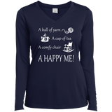 A Happy Me Ladies Long Sleeve V-neck Tee - Crafter4Life - 4