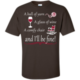 A Ball of Yarn a Glass of Wine Men's and Unisex T-Shirts - Crafter4Life - 3