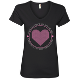 Piece of My Heart (Knit) Ladies V-Neck T-Shirt