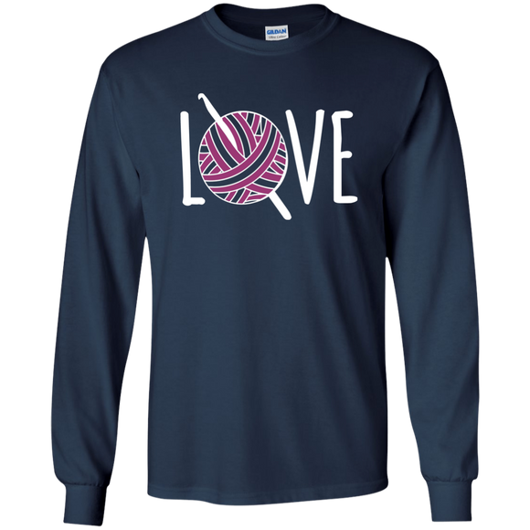 Crochet LOVE LS Ultra Cotton T-Shirt