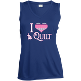 I Heart to Quilt Ladies Sleeveless V-neck - Crafter4Life - 6