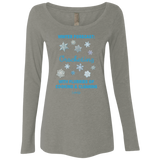 Winter Forecast Crocheting Flurries Ladies Long Sleeve Shirts