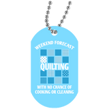 Weekend Forecast: Quilting Dog Tag Pendant