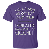 8th Day Crochet Custom Ultra Cotton T-Shirt - Crafter4Life - 11