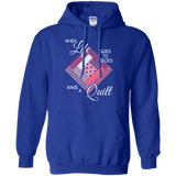Make a Quilt (pink) Pullover Hoodies - Crafter4Life - 9