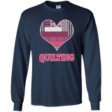 Heart Quilting Long Sleeve Ultra Cotton T-Shirt - Crafter4Life - 11