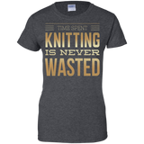 Time Spent Knitting Ladies Custom 100% Cotton T-Shirt - Crafter4Life - 5