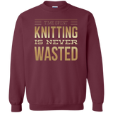 Time Spent Knitting Crewneck Sweatshirt - Crafter4Life - 3