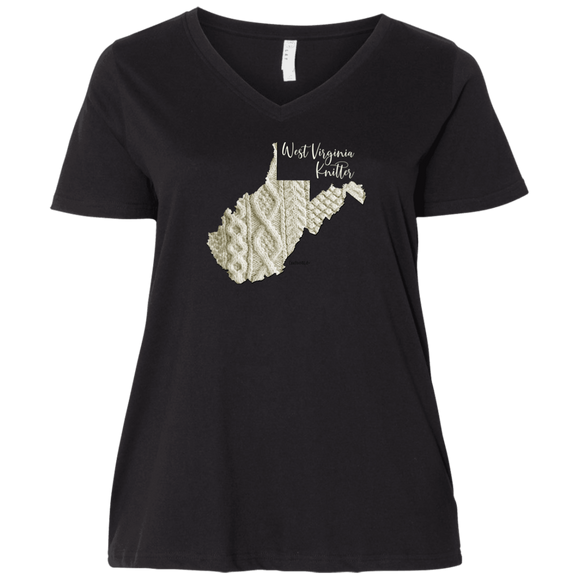 West Virginia Knitter Ladies Curvy Full-Figure T-Shirts