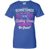 Put the Knitting Down Ladies Custom 100% Cotton T-Shirt - Crafter4Life - 8