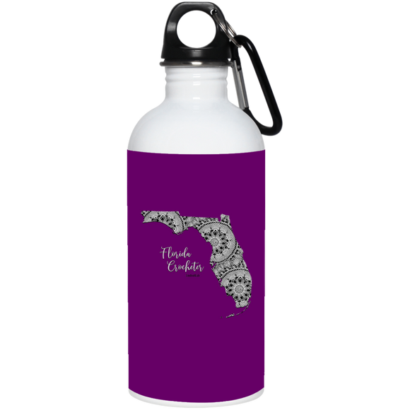 Florida Crocheter 20 oz. Stainless Steel Water Bottle