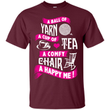 A Ball of Yarn, A Happy Me Custom Ultra Cotton T-Shirt - Crafter4Life - 9