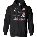 A Ball of Yarn a Glass of Wine Hoodie - Crafter4Life - 2