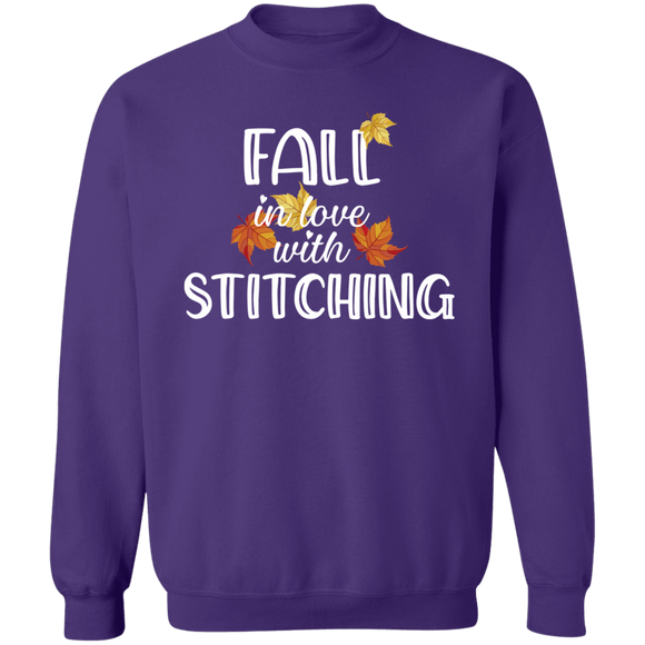 Fall in Love with Stitching Crewneck Pullover Sweatshirt