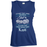 I Shop Faster than I Knit Ladies Sleeveless Moisture Absorbing V-Neck