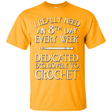 8th Day Crochet Custom Ultra Cotton T-Shirt - Crafter4Life - 3