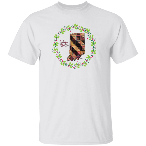 Indiana Quilter Christmas T-Shirt