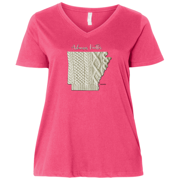 Arkansas Knitter Ladies Curvy Full-Figure T-Shirts