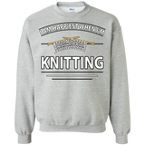 I Am Happiest When I'm Knitting Crewneck Sweatshirts - Crafter4Life - 2