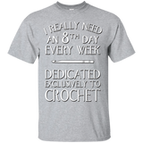 8th Day Crochet Custom Ultra Cotton T-Shirt - Crafter4Life - 2
