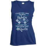 I Shop Faster than I Quilt Ladies Sleeveless V-neck - Crafter4Life - 5