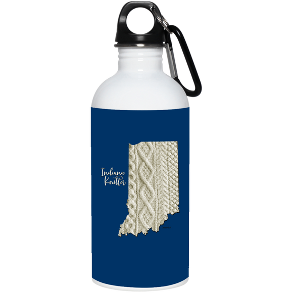 Indiana Knitter Stainless Steel Water Bottle