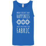 Money Doesn't Buy Happiness (Fabric) Cotton Tank Top