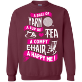 A Ball of Yarn, A Happy Me Crewneck Sweatshirts - Crafter4Life - 4