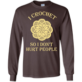 I Crochet So I Don't Hurt People Long Sleeve Ultra Cotton T-Shirt - Crafter4Life - 4